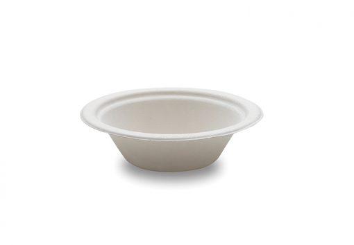 50 Bols Blancs en Canne à Sucre - 200ml - Crokus 1