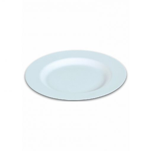 50 Assiettes Blanches en Canne à Sucre - 27cm - Crokus 1