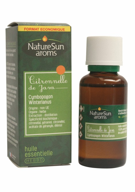 CITRONNELLE - Cymbopogon winterianus - 30 ml - NatureSunAroms 1