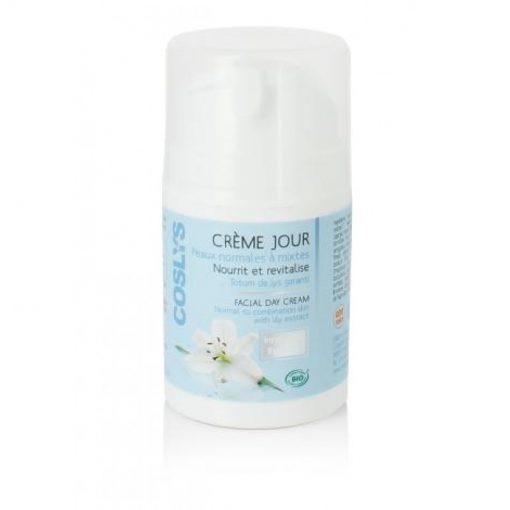 Crème de jour pour peaux normales à mixtes - 50 ml - Nourrit et revitalise - Coslys 1