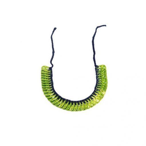 Collier tour de cou simple - 26 cm - en opercules de canettes - Floka 1