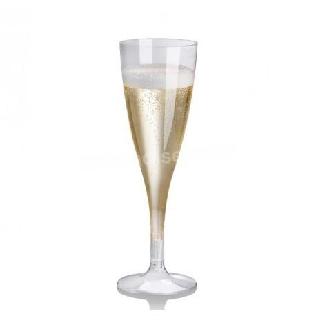 27 flûtes à champagne cristal PLA 10 cl - Crokus 1