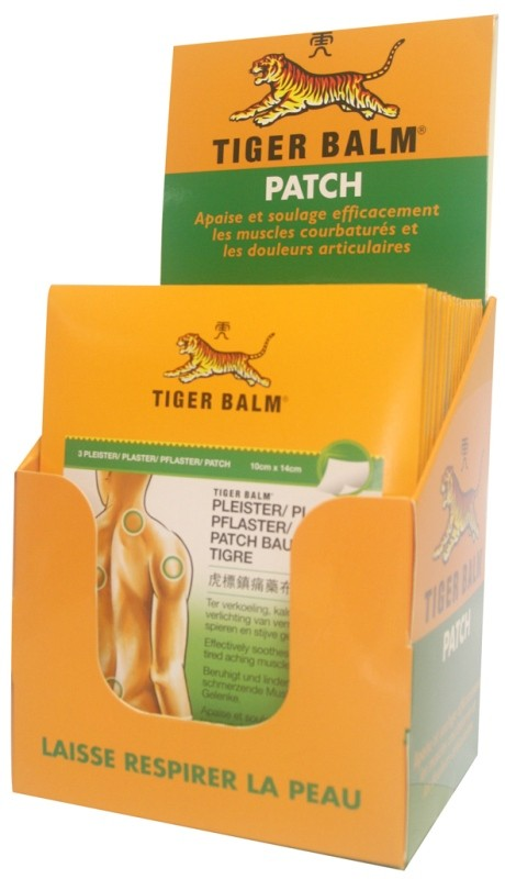 2 Patchs Tiger Balm rouge 10*14 cm 1