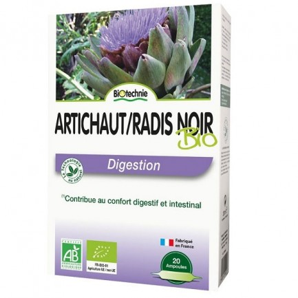 Radis Noir Artichaut Bio 20 ampoules - Biotechnie 1