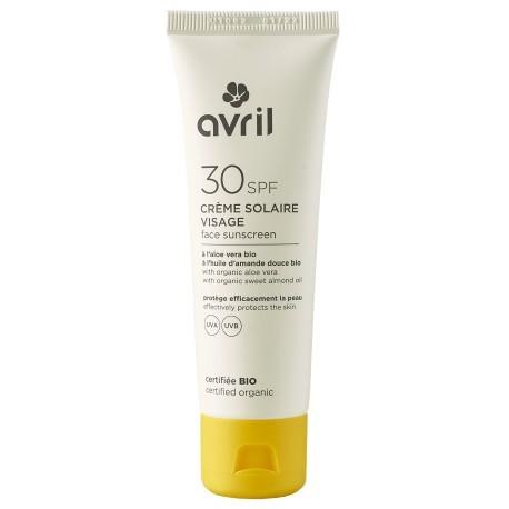 Crème solaire visage SPF 30 certifiée bio Avril à l'aloe vera bio - Avril 1