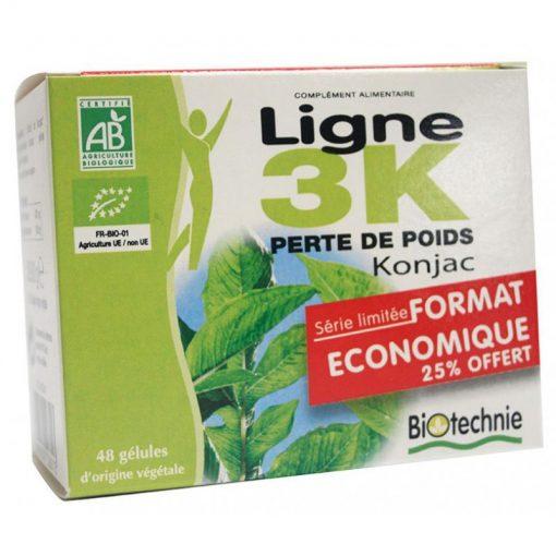Ligne 3K Konjac 48 Gélules - Biotechnie 1