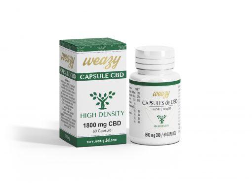 Capsules de CBD 30 mg (20 ou 60 capsules) WEAZY 1