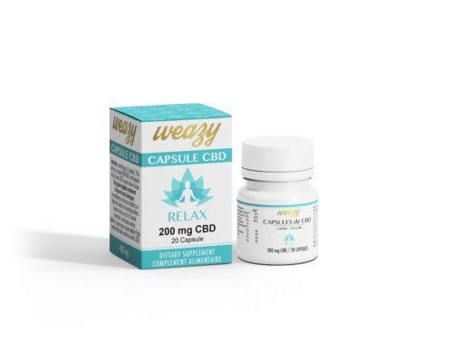 Capsules de CBD 10 mg (20 ou 60 capsules) WEAZY 1