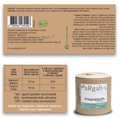 Magnésium + Potassium aRgalys 3