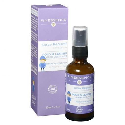 Spray Répulsif contre Poux et Lentes Bio - 50ml - Finessence 1