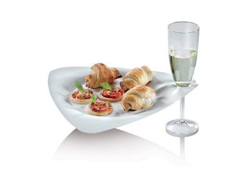Assiette Blanche Triangulaire en Canne à Sucre - Gamme Trigon - Crokus 1