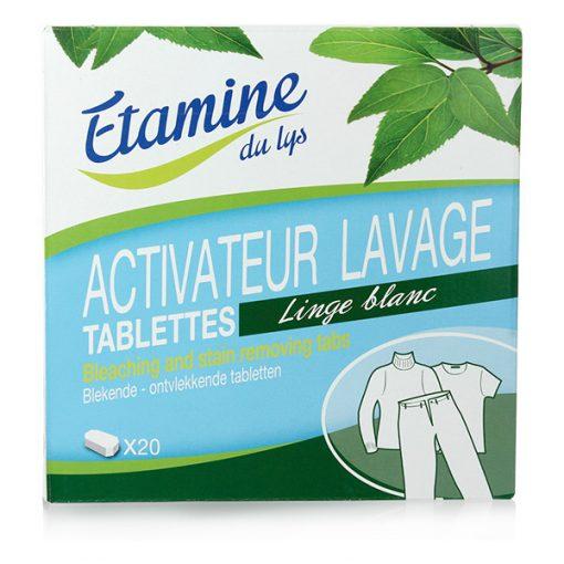 20 Tablettes Activateur Lavage Linge Blanc - Etamine du Lys 1