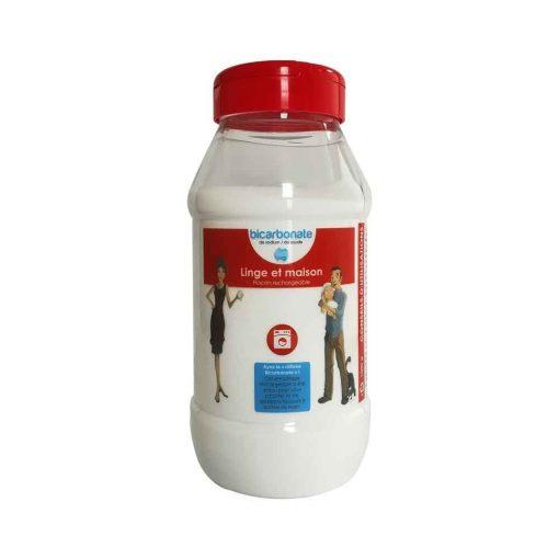 Bicarbonate Entretien Linge et Maison - Flacon Rechargeable 1kg - Cie Bicarbonate 1