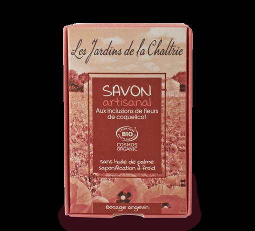 Savon Artisanal au Coquelicot Bio - 100g - Les Jardins de la Chaltrie 1