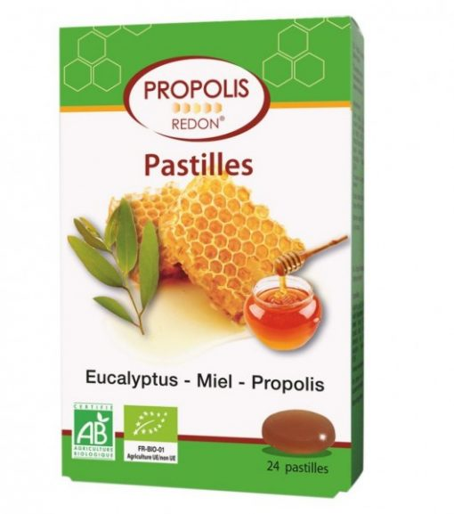 Propolis Miel Eucalyptus Bio - 24 Pastilles - Laboratoire Redon 1