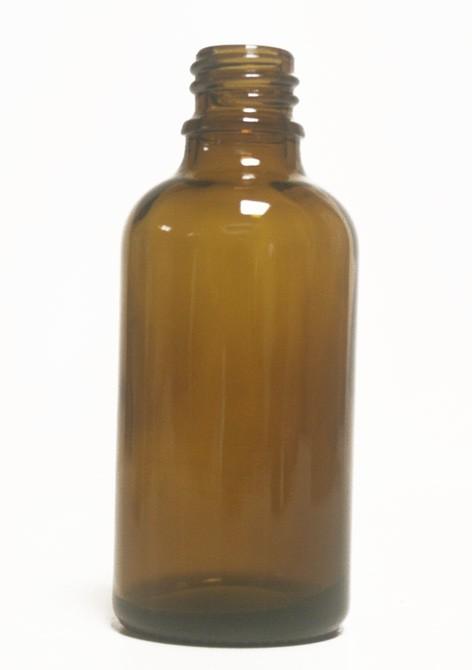 Bouteille en  verre - 50 ml - Ambre  pour huile essentielle et huile végétale bouchon +codigoutte - NatureSunAroms 1