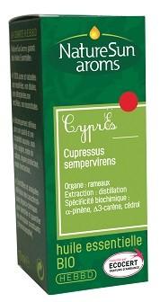 Cyprès huile essentielle bio 10 ml - NatureSunAroms 1