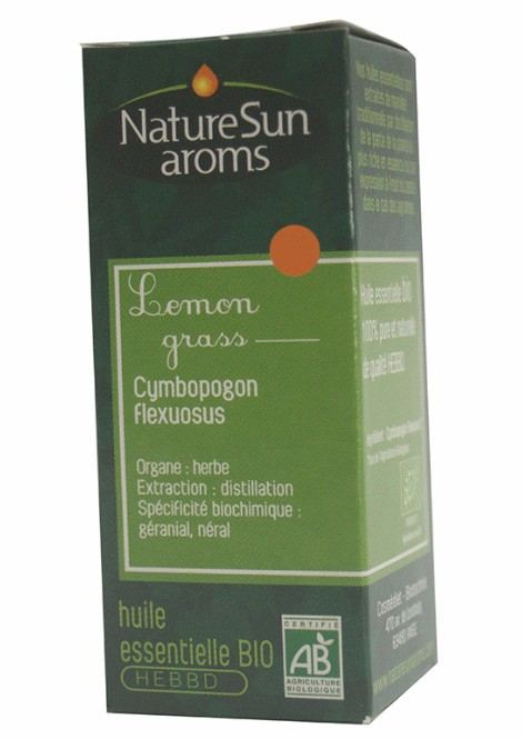 LEMON GRASS - Cymbopogon flexuosus - 10 ml - NatureSunAroms 1