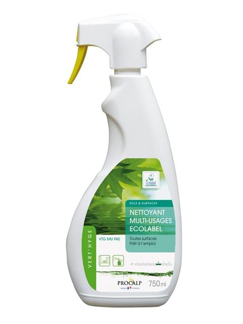 Nettoyant multi usages Vert'hyge prêt à l'emploi en pulvérisateur 750 ml - Procalys 1