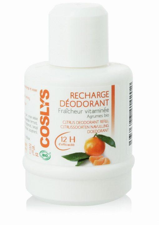 Recharge Déodorant Agrumes Bio - 50ml - Coslys 1