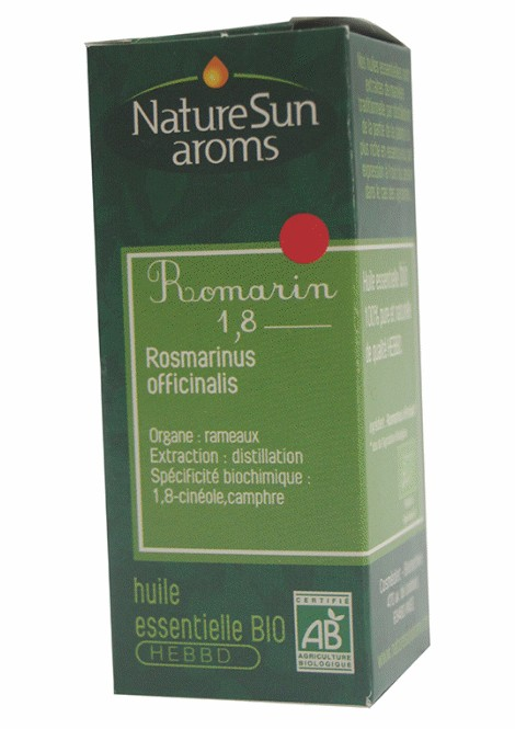 ROMARIN 1,8 - Rosmarinus officinalis - 10 ml - NatureSunAroms 1