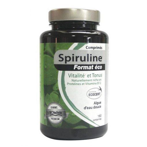 Spiruline bio - 180 comprimés - Biotechnie - NatureSunAroms 1