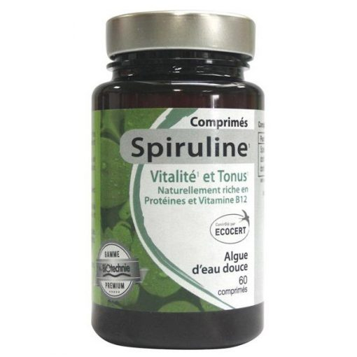 Spiruline bio - 60 comprimés - Biotechnie - NatureSunAroms 1