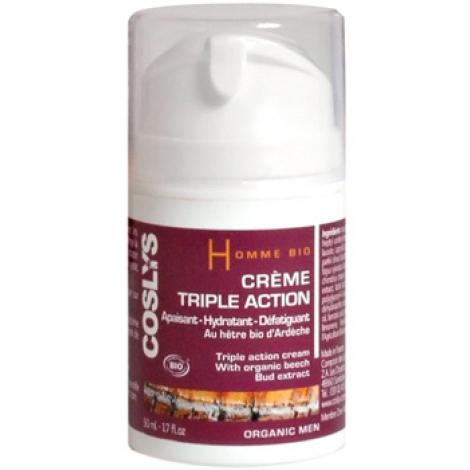 Crème Triple Action Homme Bio - 50ml - Coslys 1