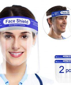 Visière de Protection intégrale en Plastique Transparent pour éviter la salive, gouttelettes avec Bande élastique 9