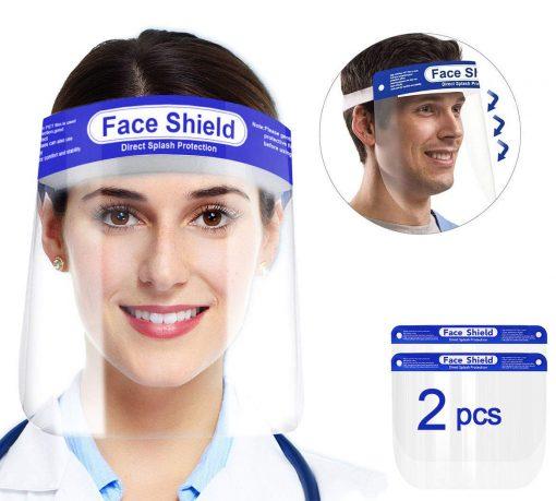 Visière de Protection intégrale en Plastique Transparent pour éviter la salive, gouttelettes avec Bande élastique 5