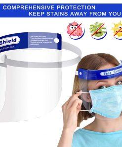 Visière de Protection intégrale en Plastique Transparent pour éviter la salive, gouttelettes avec Bande élastique 8