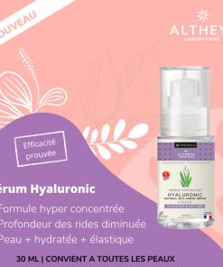 Serum concentré acide hyaluronique, soin anti-âge, anti-rides breveté - 30ml - Altheys 2